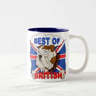 Best of British Cartoon Bulldog Mug