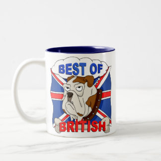 Best of British Cartoon Bulldog Mug
