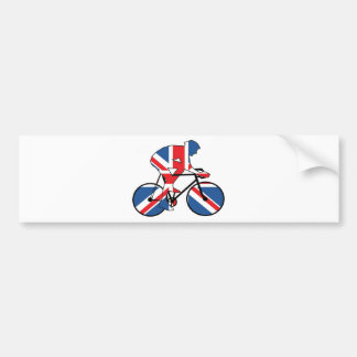 Best Of British Cyclist Union Jack Bumper Sticker