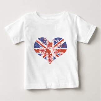 Best of British, Heart and Flowers Baby T-Shirt