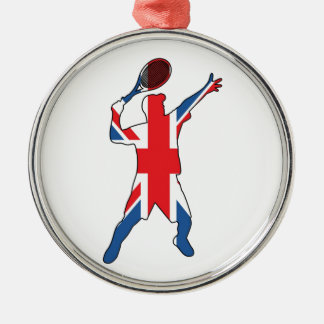 Best of British Tennis Silver-Colored Round Decoration