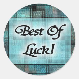 Best Of Luck! Classic Round Sticker