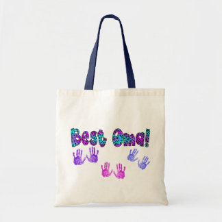 Best Oma Kids Hand Prints Gifts Budget Tote Bag
