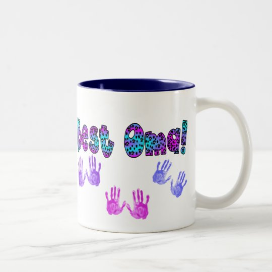 Best Oma Kids Hand Prints Gifts Two-Tone Coffee