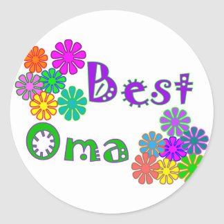 Best Oma  Mother's Day Gifts Round Sticker