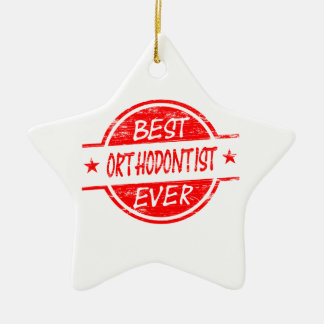 Best Orthodontist Ever Red Christmas Ornament