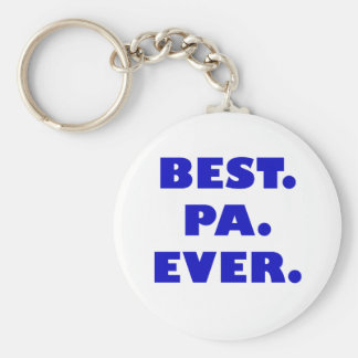 Best Pa Ever Basic Round Button Key Ring