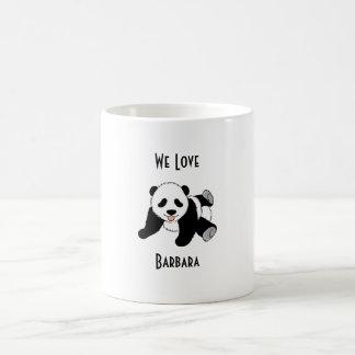 Best Panda Bear Gift perfect for crazy panda lover Basic White Mug