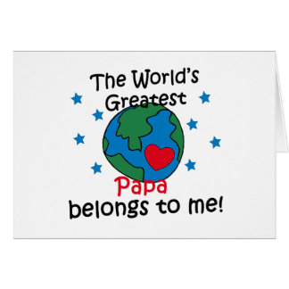 Best Papa Belongs to me Greeting Card