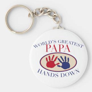 Best Papa Hands Down Keychains