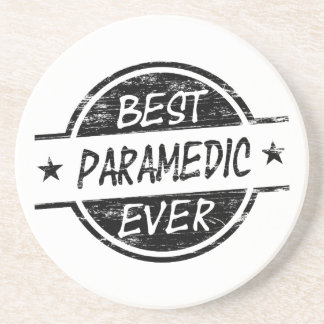 Best Paramedic Ever Black Beverage Coaster