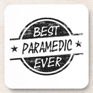 Best Paramedic Ever Black Beverage Coasters