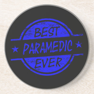 Best Paramedic Ever Blue Drink Coasters