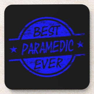 Best Paramedic Ever Blue Beverage Coasters