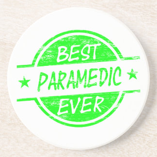 Best Paramedic Ever Green Drink Coasters