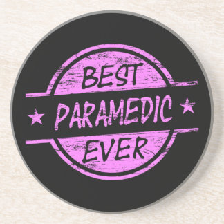 Best Paramedic Ever Pink Drink Coaster