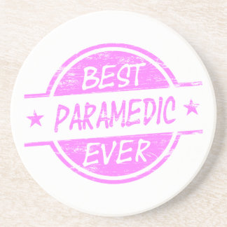 Best Paramedic Ever Pink Coasters