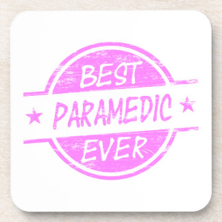 Best Paramedic Ever Pink Coaster