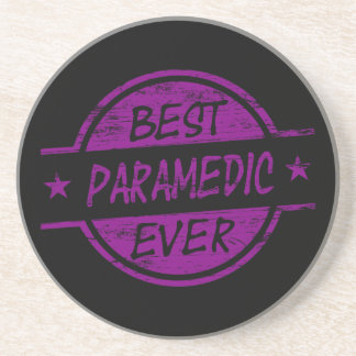 Best Paramedic Ever Purple Drink Coaster