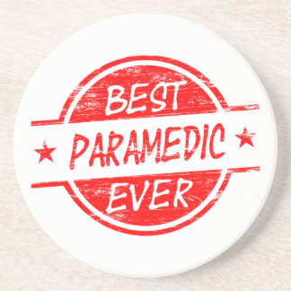 Best Paramedic Ever Red Drink Coaster