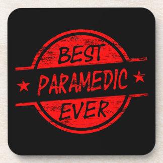 Best Paramedic Ever Red Beverage Coasters