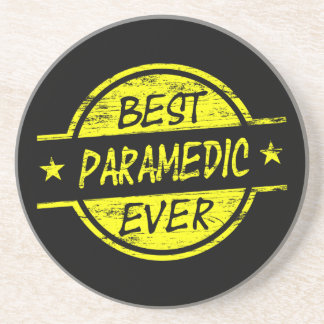 Best Paramedic Ever Yellow Drink Coaster