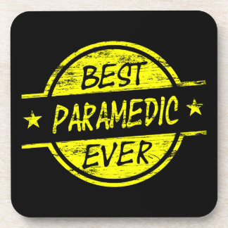 Best Paramedic Ever Yellow Beverage Coasters