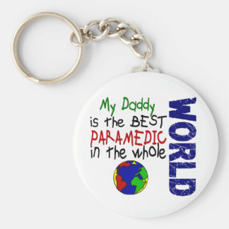 Best Paramedic In World 2 (Daddy) Basic Round Button Key Ring