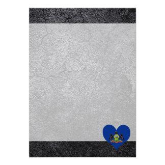 Best Pennsylvanian Heart flag 13 Cm X 18 Cm Invitation Card