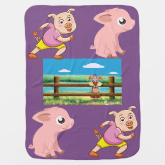 """Best Pig Baby Blankets """"PERSONALIZE COLOR CHOICE"""