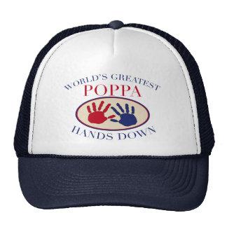 Best Poppa Hands Down Cap