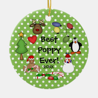 Best Poppy Ever Christmas Ornament