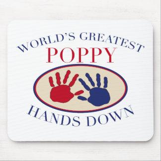 Best Poppy Hands Down Mouse Mat