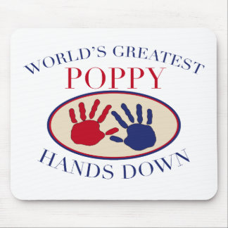 Best Poppy Hands Down Mouse Pad