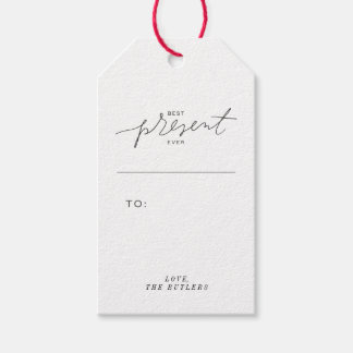 Best Present Ever Gift Tags - Black