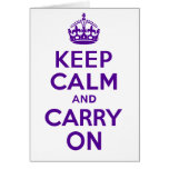 Best Price Authentic Keep Calm And Carry On Purple