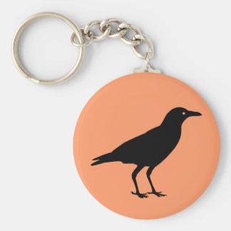 Best Price Black Crow Halloween Basic Round Button Key Ring