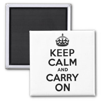 Best Price Keep Calm And Carry On Black and White Magnet