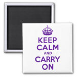 Best Price Keep Calm And Carry On Purple Fridge Magnet