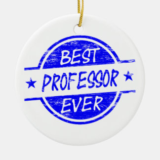 Best Professor Ever Blue Christmas Ornament