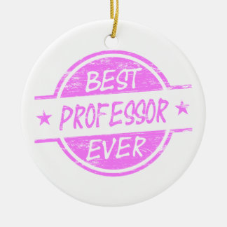 Best Professor Ever Pink Christmas Ornament