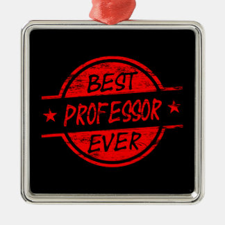 Best Professor Ever Red Christmas Ornament