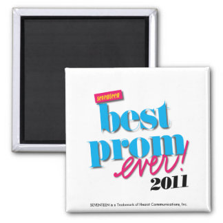 Best Prom Ever - Aqua Square Magnet