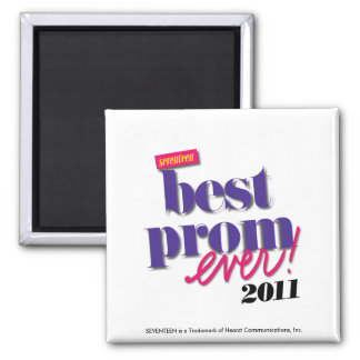 Best Prom Ever - Purple Square Magnet
