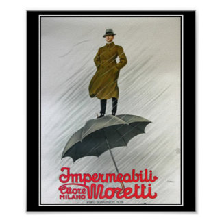 Best Raincoat Vintage Poster