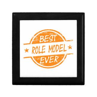 Best Role Model Ever Orange Trinket Boxes