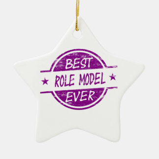 Best Role Model Ever Purple Christmas Ornament