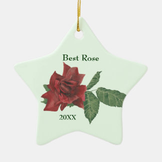 Best Rose Customizable Ornament