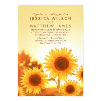 Best Rustic Sunflower Modern Floral Summer Wedding Card