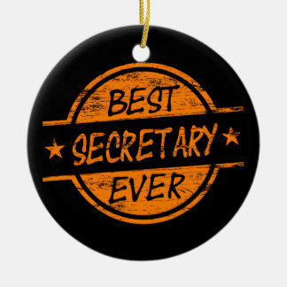 Best Secretary Ever Orange Christmas Ornament